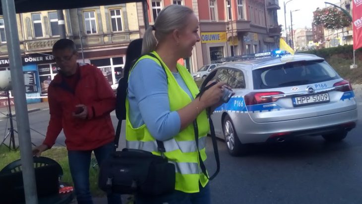 Rzecznik siemianowickie Policji Tatiana Lukoszek jak zawsze w pogotowiu.