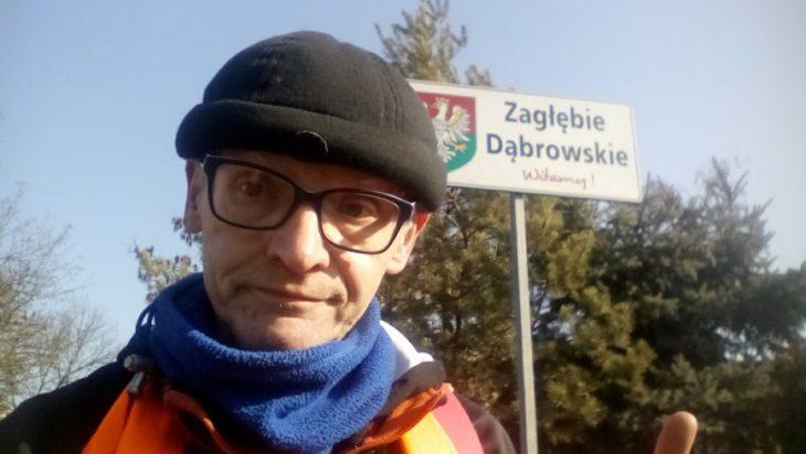Tablica na granicy Katowic, Czeladzi i Sosnowca.