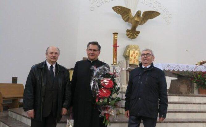 Delegacja Siemianowickiego Stowarzyszenia Przedsiębiorców z ks. Konradem Zublem.