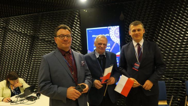Delegaci z Grodu Siemiona – od lewej: były prezydent miasta Jacek Guzy, radni Marek Urbańczyk, Tomasz Rosicki.