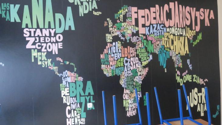 Uczniowie sami odnowili pracownię geografii.