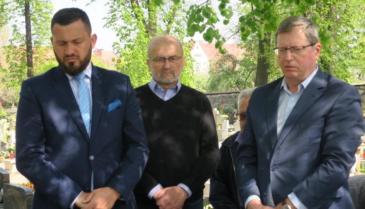 Od lewej Marek Balt, Ryszard Olek (SLD Siemianowice), Zbyszek Zaborowski.