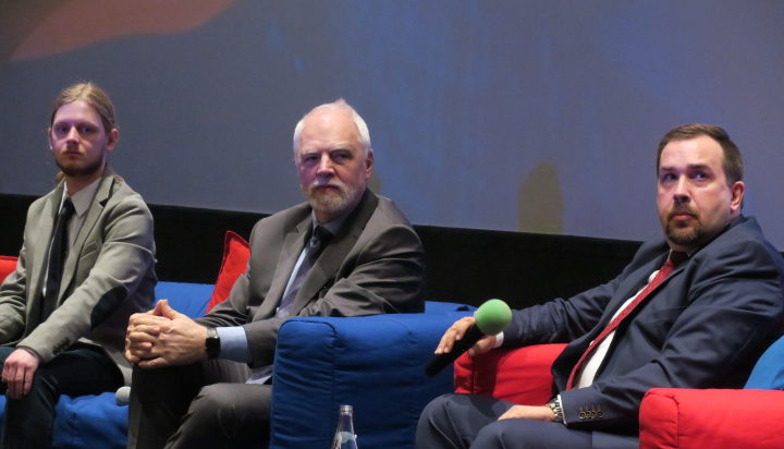 Od lewej Piotr Łukasiewicz – Wiosna, poseł PE Jan Olbrycht, Konrad Mrozowski Lewica Razem.