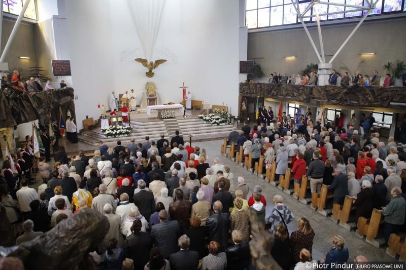 Msza w bytkowskim kościele.