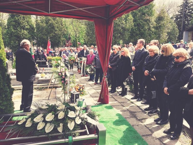 Podczas pogrzebu Jana Ostrowskiego, Michałkowice, 10 maja.