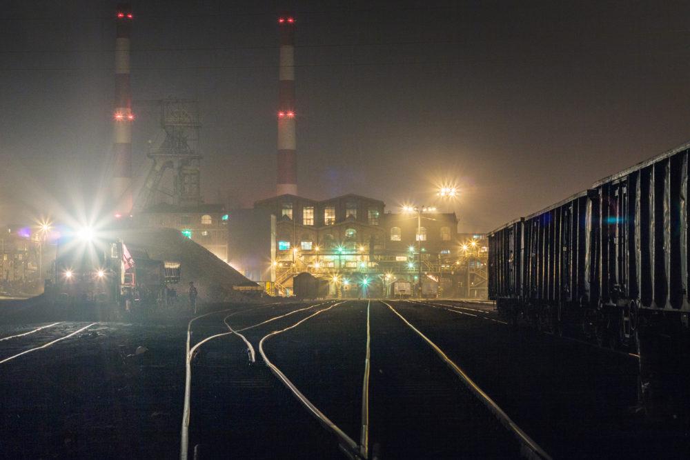 dworzec kolejowy kopalni Wieczorek w obiektywie Marka Lochera.