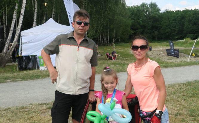 Justyna Jeleń, rocznik 2013, jedna z zawodniczek przybyła na imprezę z rodzicami.