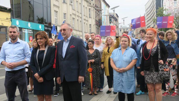Od lewej Maciej Konieczny,Gabriela Morawska – Stanecka, Jerzy Woźniak, pierwsza od prawej Małgorzata Groniewska.