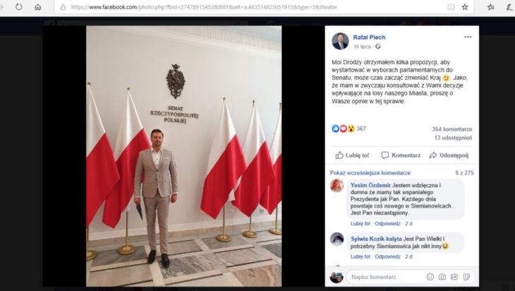 Senator Rafał Piech – I chciał i przestraszył się