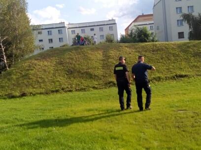 Ładnie to tak, po trawie?!
