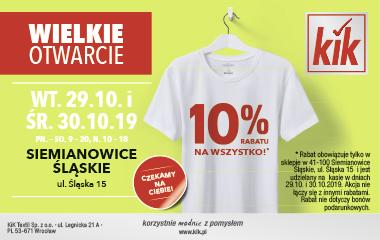kik siemianowice, ul. śląska 15 wielkie otwarcie