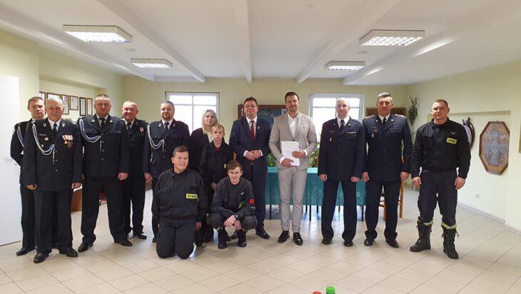 Podczas spotkania z ministrem Michałem Wójcikiem.