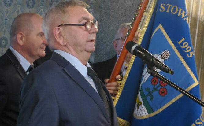 Prezes Zenon Kaczmarzyk, który założył i kieruje do chwili obecnej Stowarzyszeniem Przedsiębiorców.