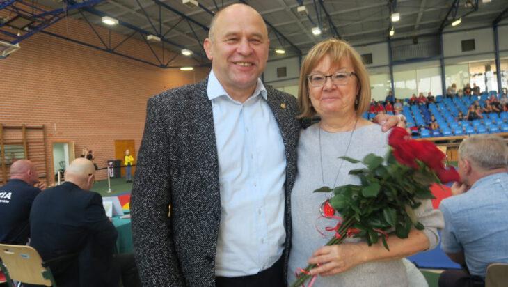 Jarek Siuj z córką Jana Czaji, Małgorzatą.