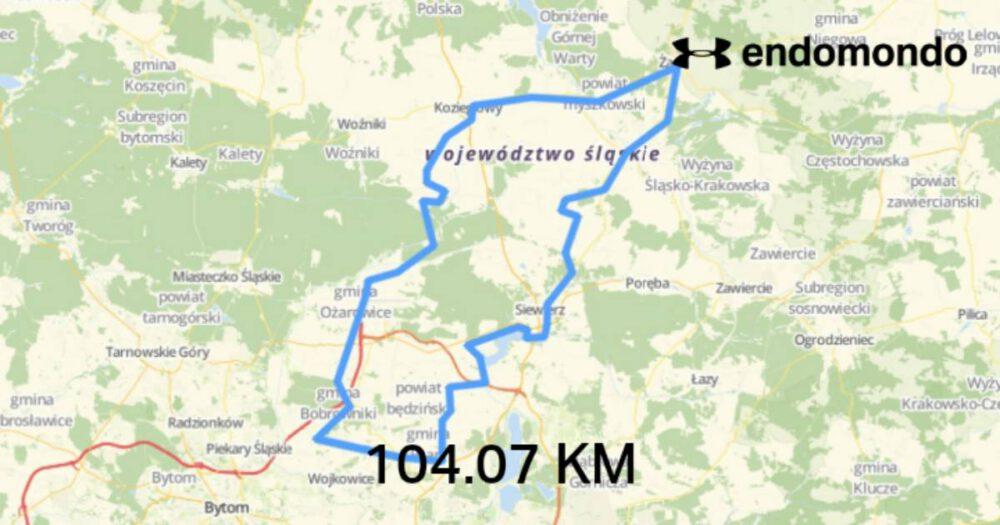 Mapa treningu z 11 listopada.