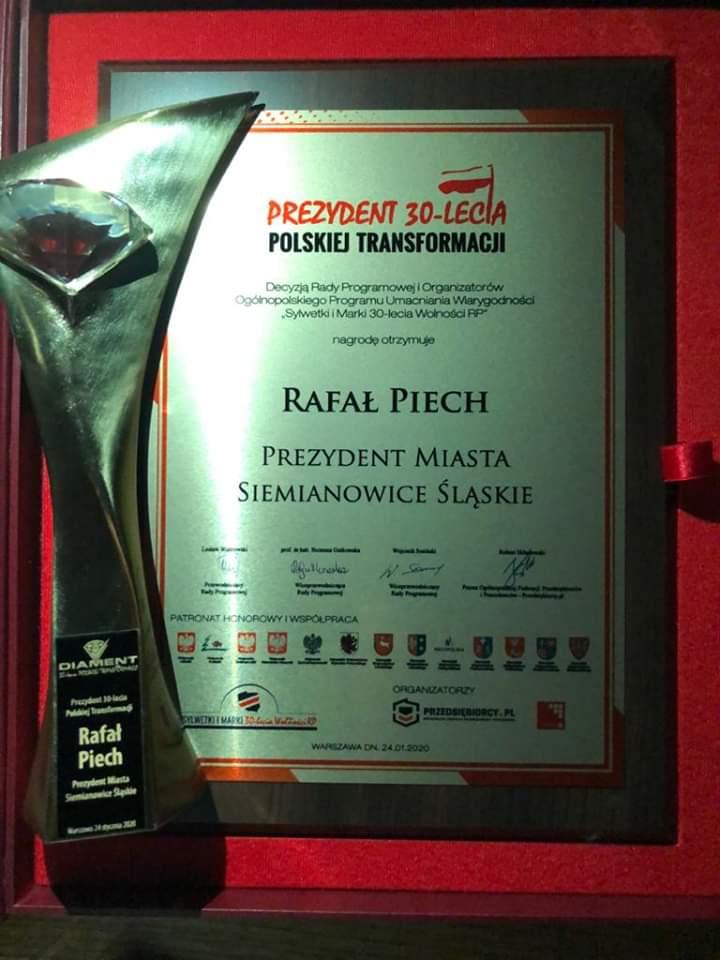 nagroda dla prezydenta Rafał Piech