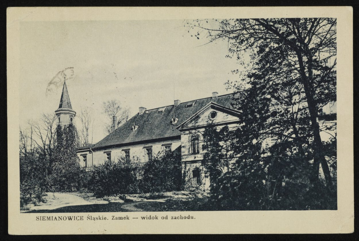 Kartka z przeszłości Siemianowicki pałac Donnersmarcków