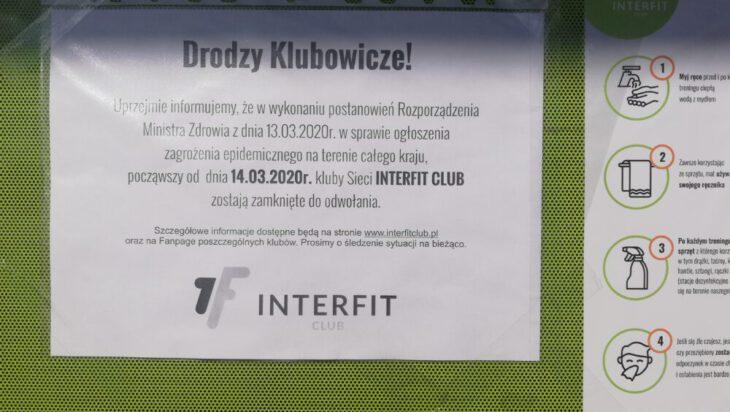 Ogłoszenie na klubie fitness