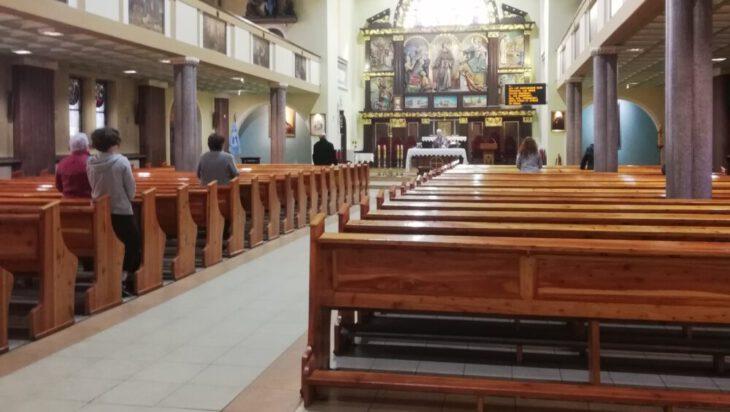 Msza w kościele pw. św. Antoniego z Padwy