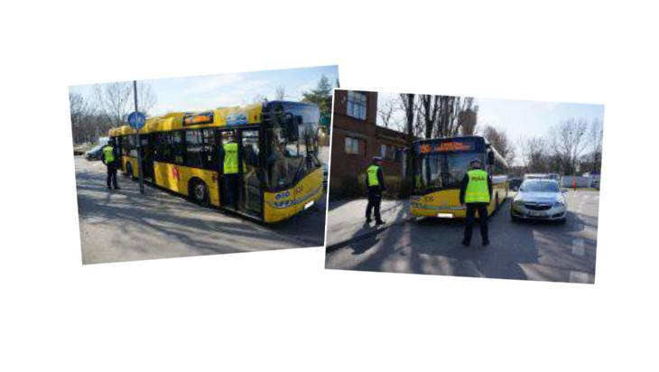 Drogówka kontroluje liczbę osób w autobusach – przy okazji sprawdza ważność biletu