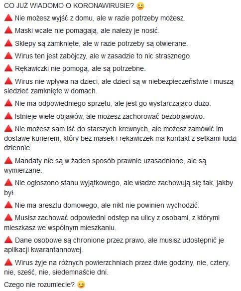 Koronawirus Siemianowice - zakazy humorystycznie