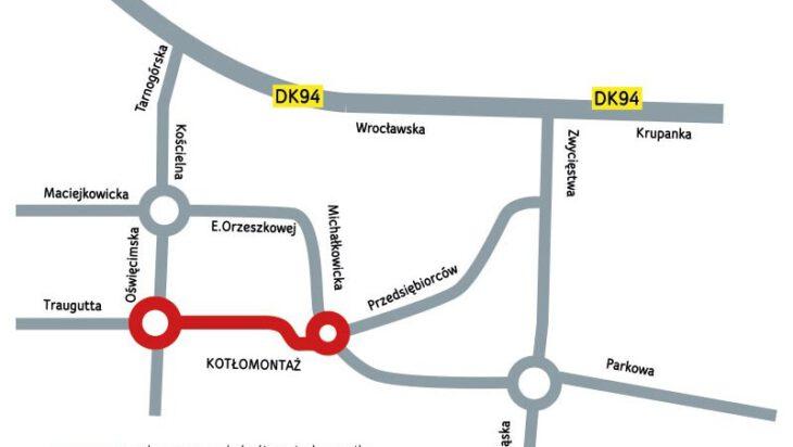 4. Plan nowego układu ulic w Michałkowicach