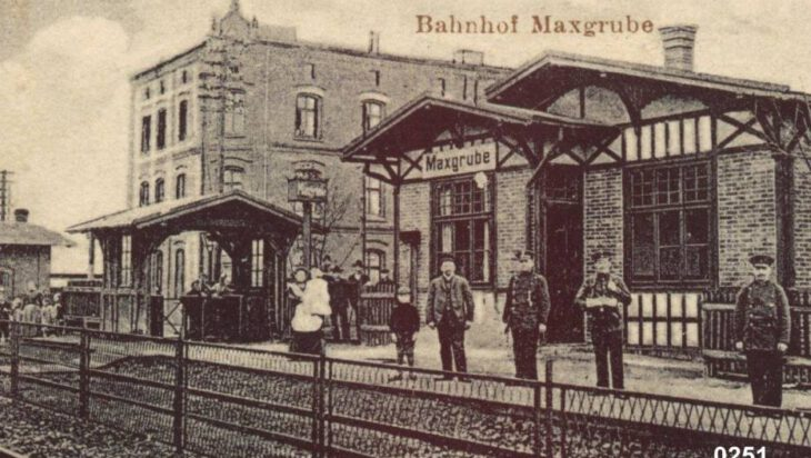 5. Była tez stacja Maxgrube dla Bytkowa i Michałkowic. Kto wie gdzie? Dom w tle stoi do dzisiaj.
