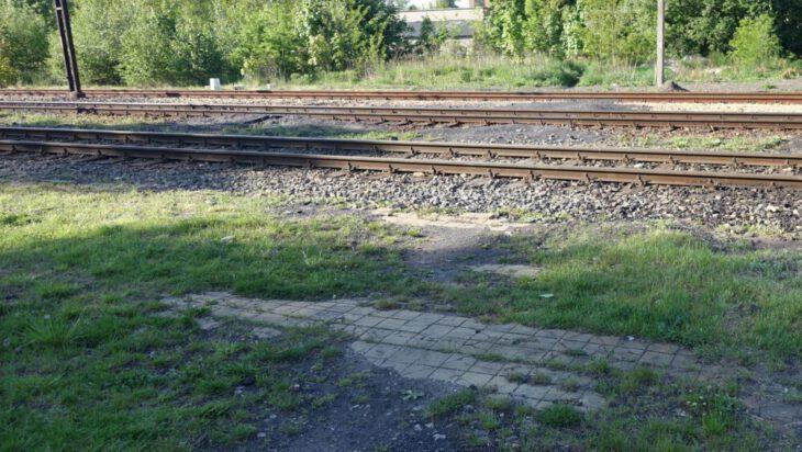 3. Resztki peronowej posadzki widoczne są do dzisiaj (tu stawał pociąg)
