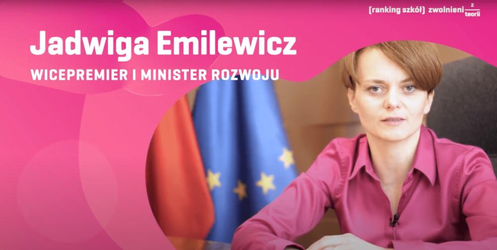 Jadwiga Emilewicz - Minister Rozwoju