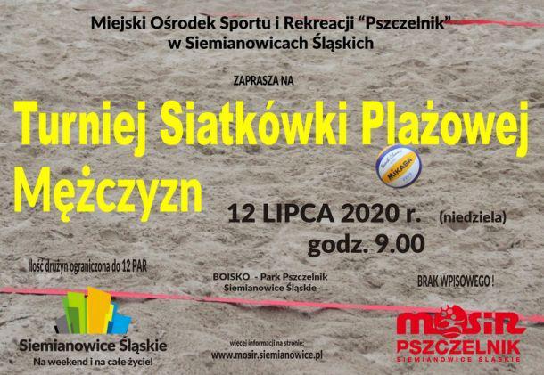 siatkówka plażowa siemianowice pszczelnik 2020