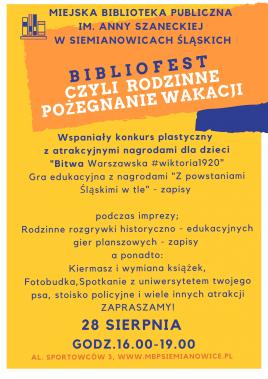 Bibliofest, czyli rodzinne zakończenie wakacji z Biblioteką!
