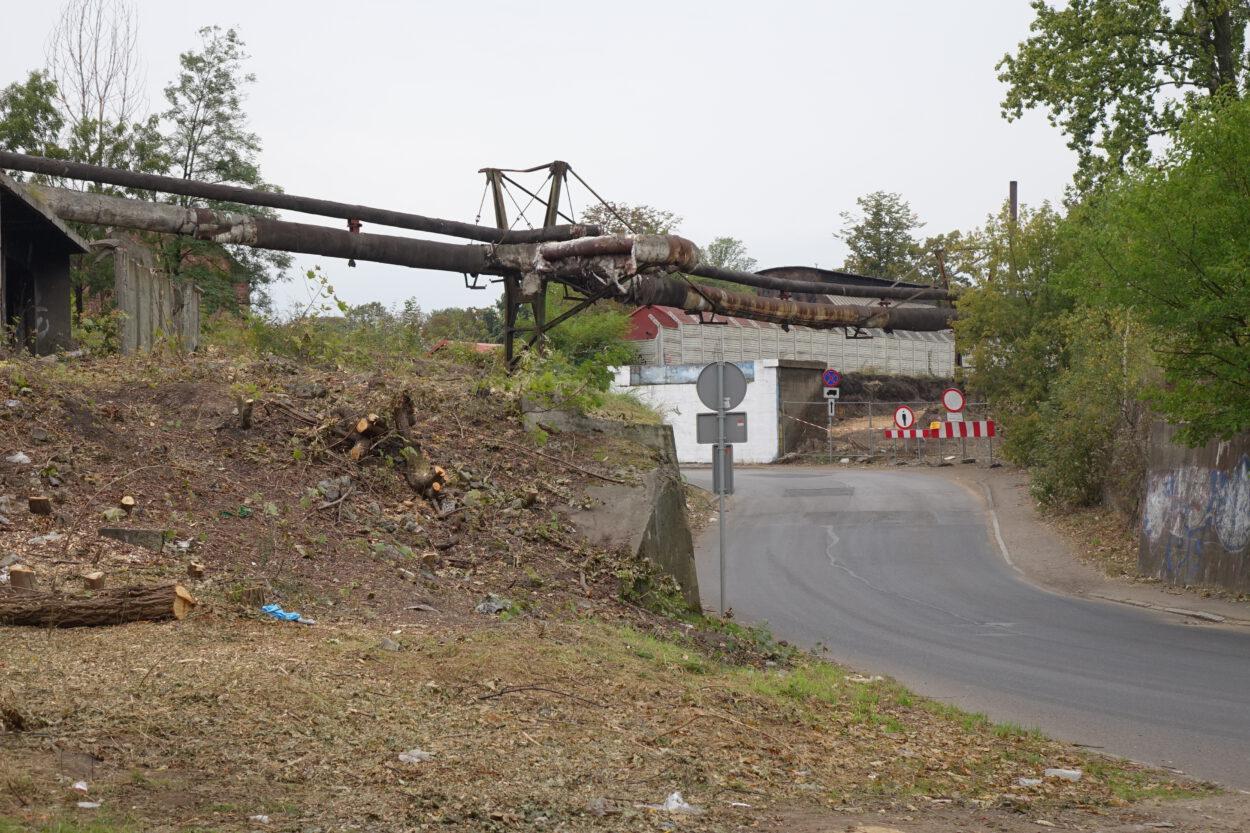 Siemianowice ulica Nowy łącznik