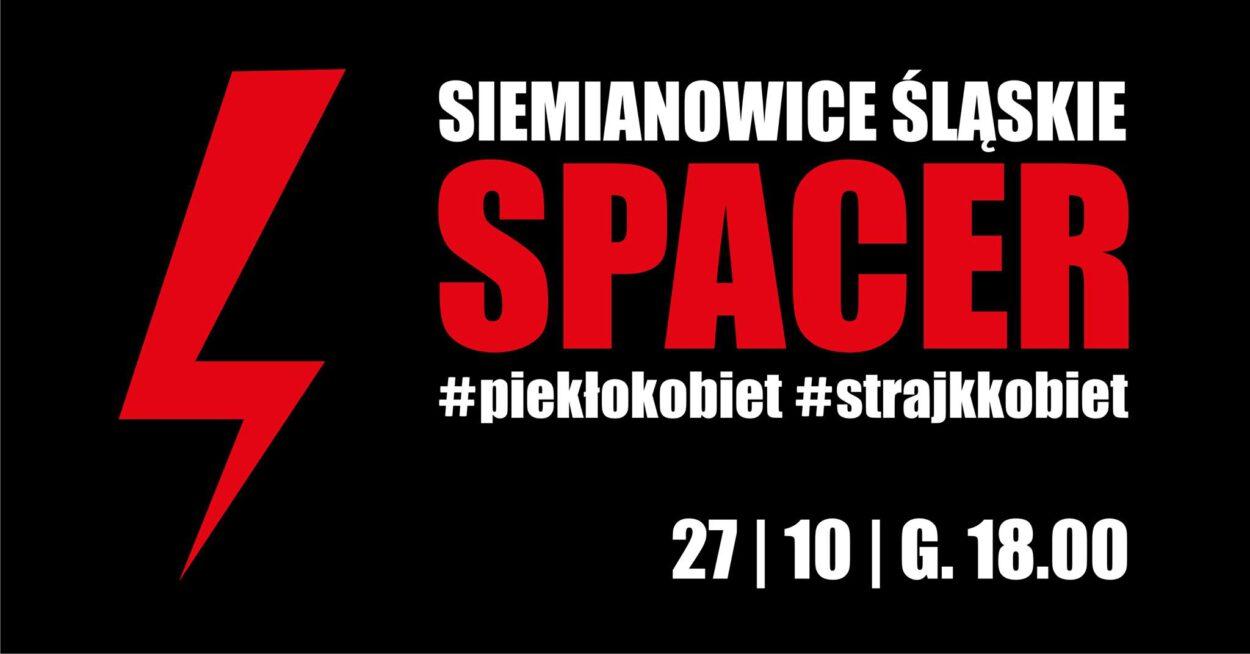 Protesty w siemianowicach strajk kobiet 27 października 2020