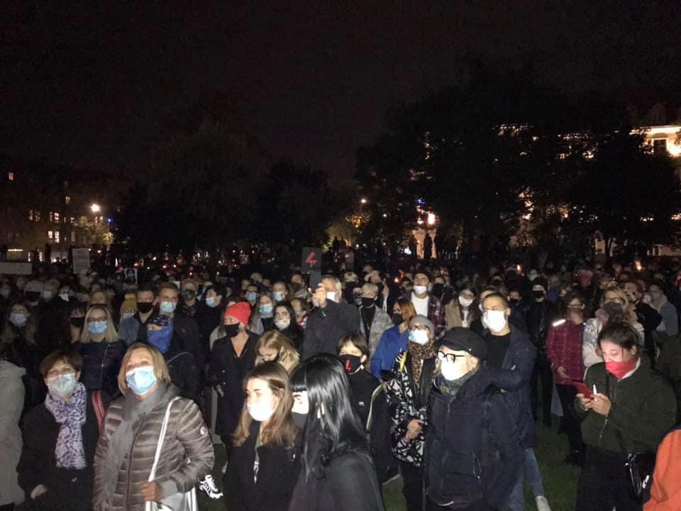 protesty i maseczki w siemianowicach październik 2020