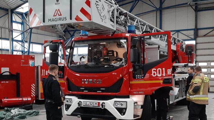 Siemianowice. Nasi strażacy z najwyższą drabiną łamaną na świecie