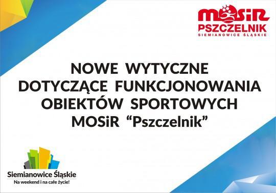 """Ograniczenia w funkcjonowaniu obiektów MOSiR """"Pszczelnik"""" !!!"""