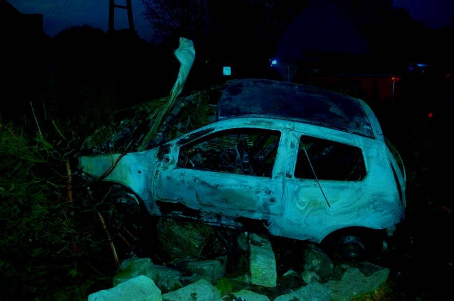 spalony samochód katowice siemianowice