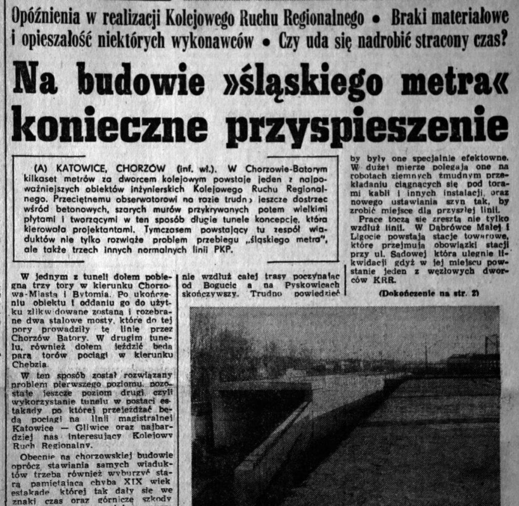 budowa śląskiego metra wycinek prasy KRR redivivus
