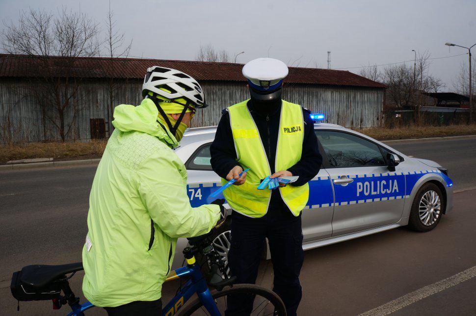 rowerzysta i policjant siemianowice śląskie