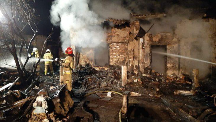 siemianowice pożar altany działkowej