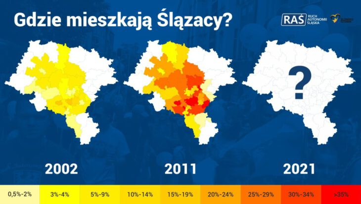 Gdzie mieszkają Ślązacy ?? trwa Spis Powszechny Ludności i Mieszkań.