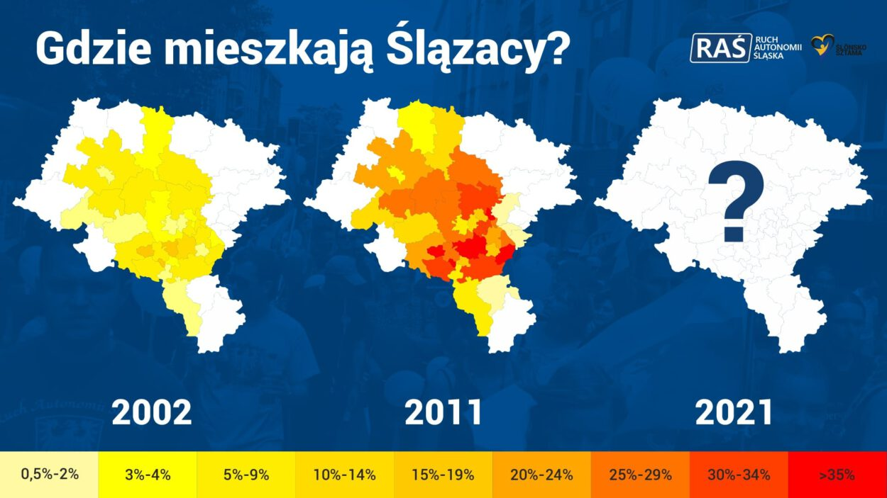 gdzie mieszkaja Slązacy