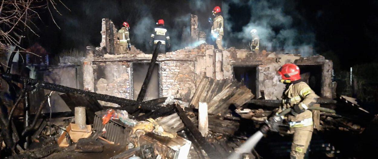 pożar altan na ogródkach działkowych siemianowice