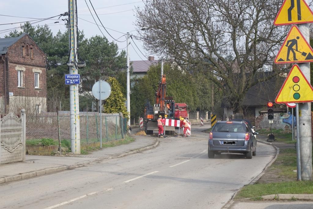 przełajka ulica wiejska zaczynamy roboty drogowe siemianowice