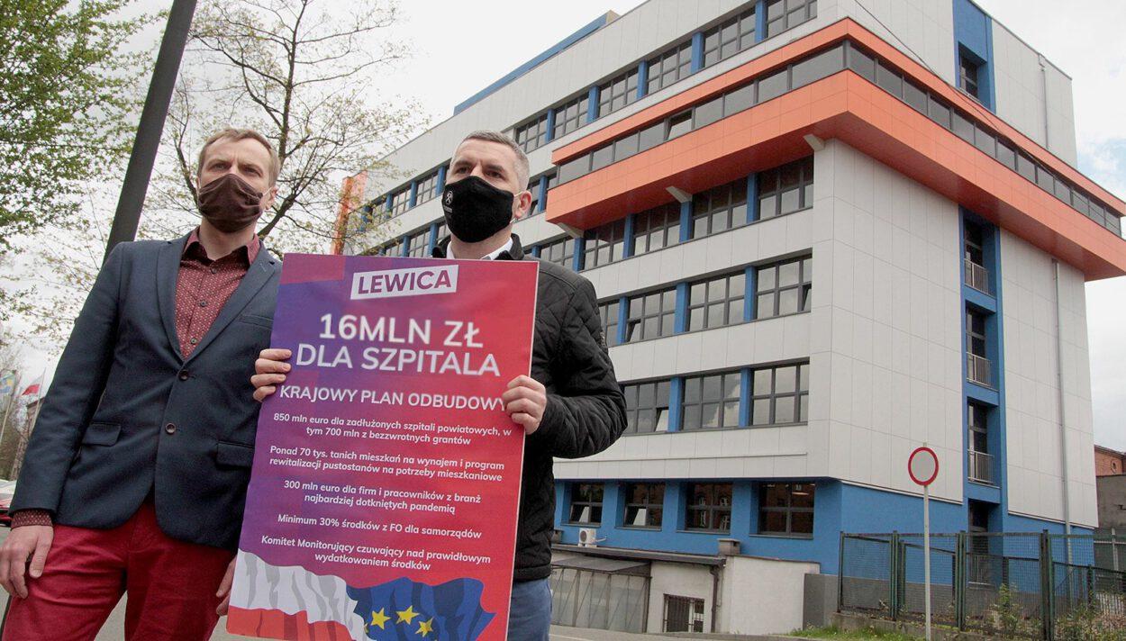 EPO maciej konieczny oraz jakub nowak przed szpital miejski siemianowice