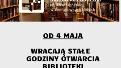 Biblioteka bez obostrzeń – częściowo [Siemianowice Śl.]