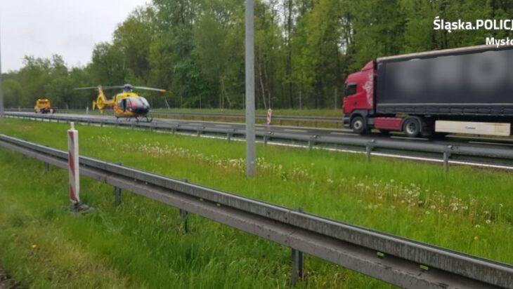 mysłowice oddcinek autostrady z helikopteremzza miedzy 5