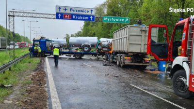 Karambol na A-4 w Mysłowicach