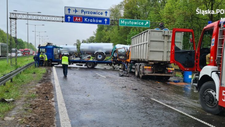 zablokowana autostrada a4