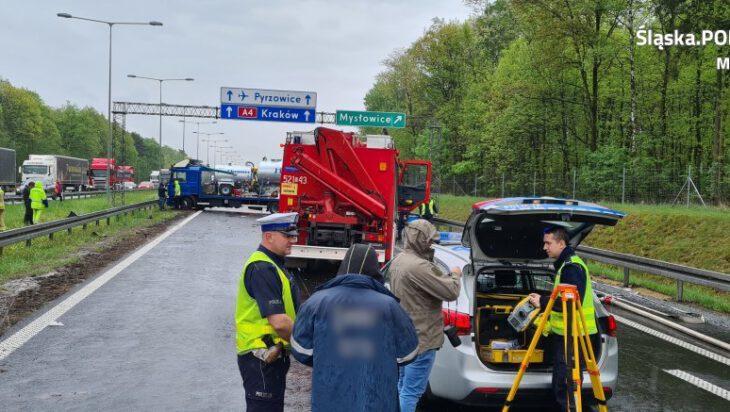 zza miedzy - karambol autostrada w mysłowicach